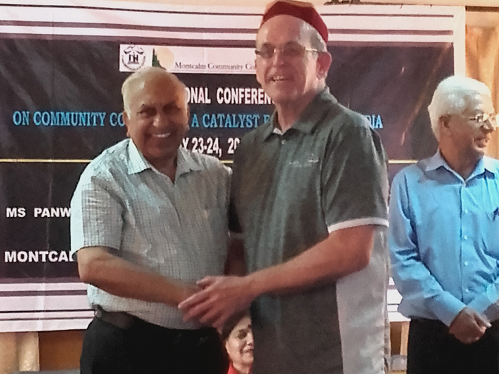 Mr.Vinod Gupta with foreigner guest